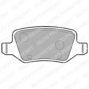 DELPHI LP1741 Гальмівні колодки, дискові