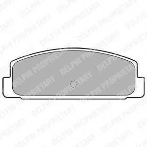 DELPHI LP1766 Гальмівні колодки, дискові