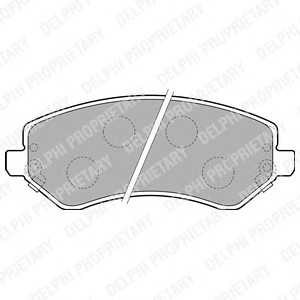 DELPHI LP1773 Комплект тормозных колодок, дисковый тормоз Додж Караван