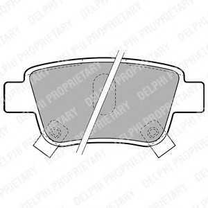DELPHI LP1785 Гальмівні колодки, дискові