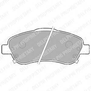 DELPHI LP1786 Гальмівні колодки, дискові