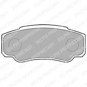 DELPHI LP1790 Гальмівні колодки, дискові