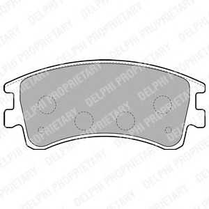 DELPHI LP1799 Гальмівні колодки, дискові
