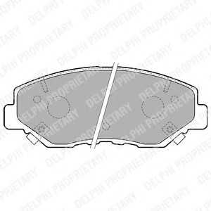 DELPHI LP1806 Гальмівні колодки, дискові