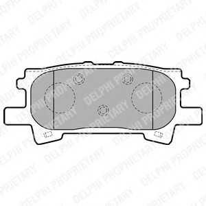 DELPHI LP1820 Гальмівні колодки, дискові