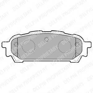 DELPHI LP1822 Гальмівні колодки, дискові