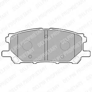 DELPHI LP1823 Гальмівні колодки, дискові