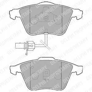 DELPHI LP1825 Гальмівні колодки, дискові