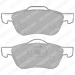 DELPHI LP1830 Комплект тормозных колодок, дисковый тормоз