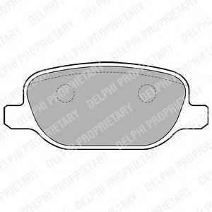 DELPHI LP1845 Комплект тормозных колодок, дисковый тормоз