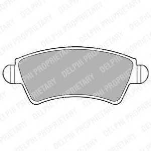 DELPHI LP1846 Комплект тормозных колодок, дисковый тормоз
