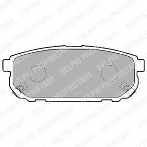 DELPHI LP1850 Гальмівні колодки, дискові