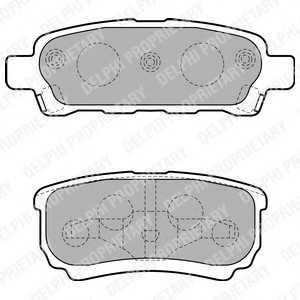 DELPHI LP1852 Гальмівні колодки, дискові