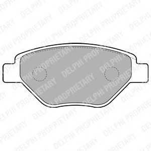 DELPHI LP1866 Гальмівні колодки, дискові
