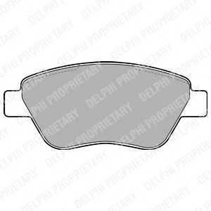 DELPHI LP1899 Комплект тормозных колодок, дисковый тормоз