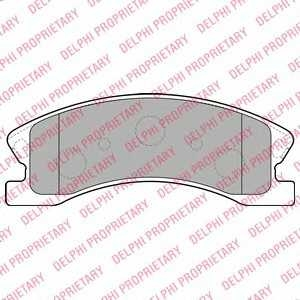 DELPHI LP1906 Тормозные колодки