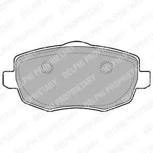 DELPHI LP1934 Комплект тормозных колодок, дисковый тормоз