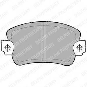 DELPHI LP197 Комплект тормозных колодок, дисковый тормоз Рено Трафик