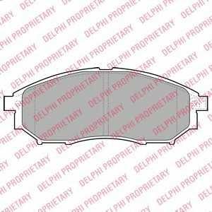 DELPHI LP2030 Гальмівні колодки, дискові