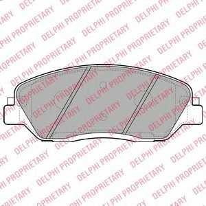DELPHI LP2048 Гальмівні колодки, дискові