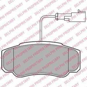 DELPHI LP2054 Комплект тормозных колодок, дисковый тормоз