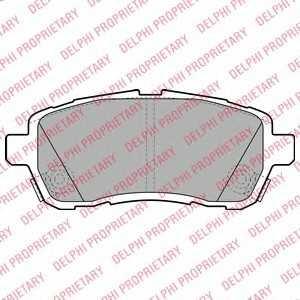 DELPHI LP2069 Тормозные колодки
