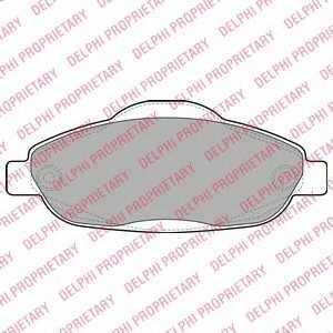DELPHI LP2070 Тормозные колодки
