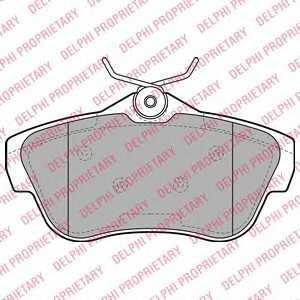DELPHI LP2071 Гальмівні колодки, дискові
