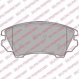 DELPHI LP2081 Гальмівні колодки, дискові