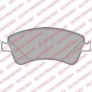 DELPHI LP2104 Гальмівні колодки, дискові