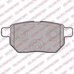 DELPHI LP2105 Гальмівні колодки, дискові