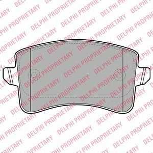 DELPHI LP2106 Комплект тормозных колодок, дисковый тормоз Додж Стратус