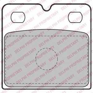 DELPHI LP2112 Комплект тормозных колодок, дисковый тормоз