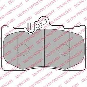 DELPHI LP2122 Гальмівні колодки, дискові