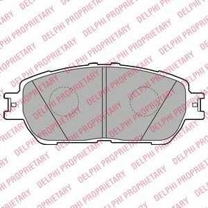 DELPHI LP2132 Гальмівні колодки, дискові