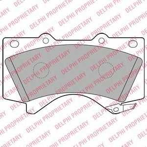 DELPHI LP2134 Гальмівні колодки, дискові