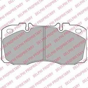 DELPHI LP2138 Комплект тормозных колодок, дисковый тормоз