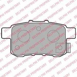 DELPHI LP2145 Гальмівні колодки, дискові