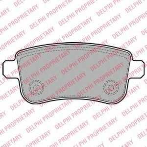 DELPHI LP2153 Комплект тормозных колодок, дисковый тормоз Мерседес Слс Амг