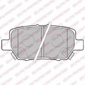 DELPHI LP2160 Комплект тормозных колодок, дисковый тормоз Хонда