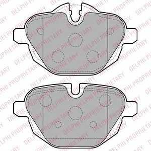 DELPHI LP2162 Гальмівні колодки, дискові