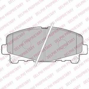 DELPHI LP2166 Гальмівні колодки, дискові