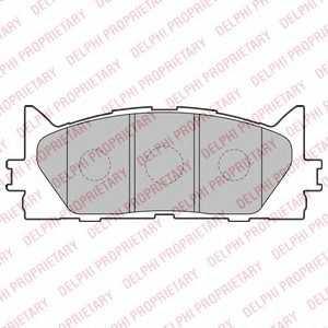 DELPHI LP2169 Гальмівні колодки, дискові