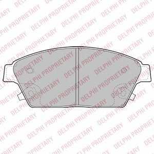 DELPHI LP2170 Гальмівні колодки, дискові