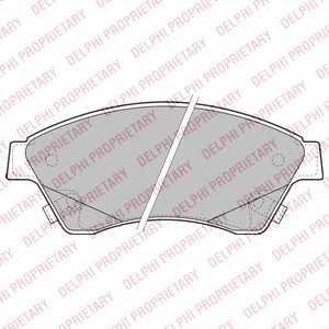 DELPHI LP2171 Гальмівні колодки, дискові