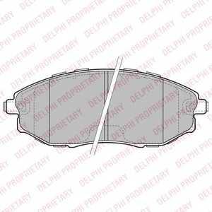 DELPHI LP2183 Гальмівні колодки, дискові