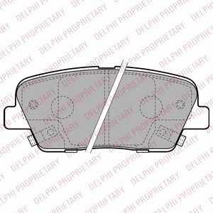 DELPHI LP2202 Гальмівні колодки, дискові