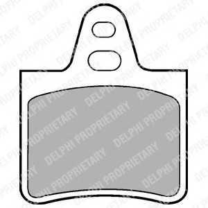 DELPHI LP229 Комплект тормозных колодок, дисковый тормоз Ситроен Cx