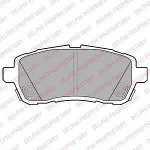 DELPHI LP2306 Комплект тормозных колодок, дисковый тормоз Дайхатсу