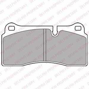 DELPHI LP2448 Комплект тормозных колодок, дисковый тормоз Ауди Р8 Спайдер